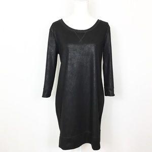 New York & Co Sweatshirt Metallic Black Dress